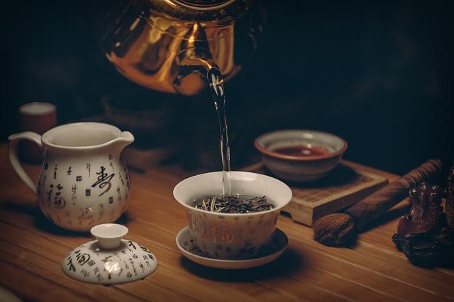 Zielona herbata, modny napój
